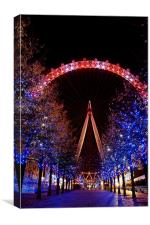 Night Time London Eye, Canvas Print