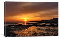 Sussex Sunset, Canvas Print