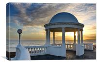 De La Warr Colonnade, Canvas Print