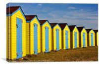Littlehampton Beach Huts, Canvas Print