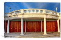 The Colonnade, Bexhill, Canvas Print