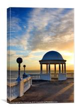 King George V Colonnade Bexhill, Canvas Print