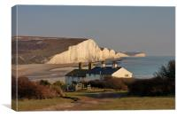 Seven Sisters and Cuckmere Haven, Canvas Print