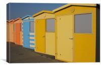 Beach Hut No 6, Canvas Print