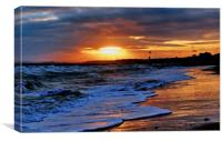 Boscombe Sunset, Canvas Print