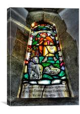 Stained Glass Window, Canvas Print