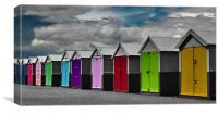 Hove Beach Huts, Canvas Print