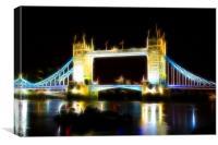 Tower Bridge Abstract, Canvas Print