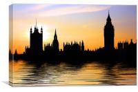 Westminster Skyline, Canvas Print