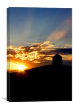 Burton Dassett Sunset, Canvas Print