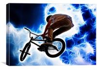 Electric BMX, Canvas Print