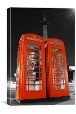 London Phone Boxes, Canvas Print