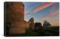 Pevensey Castle, Canvas Print