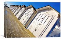 Eastbourne Beach Huts, Canvas Print