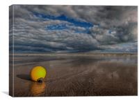 Gathering Storm Over Pevensey Bay, Canvas Print