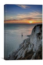 Beachy Head At Sunset, Canvas Print