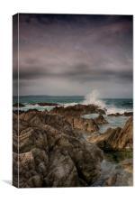 Barricane Beach Rocks, Woolacombe, Canvas Print