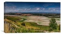 View From Firle Beacon, Canvas Print