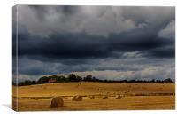 Harvest Time, Glynde, Canvas Print