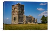 Knowlton Church Ruins, Dorset, Canvas Print