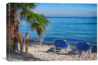 Dassia Beach, Corfu, Greece                       , Canvas Print