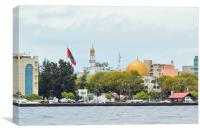 Face of Maldives Capital, Canvas Print