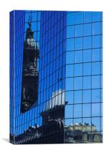Old and New, a reflection, Canvas Print