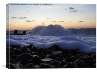 foam on the rocks, Canvas Print