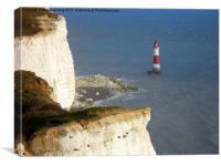 Cliffs edge., Canvas Print