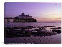 Pier at Dawn, Canvas Print