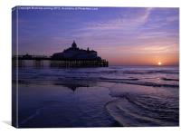 Eastbourne pier at dawn., Canvas Print