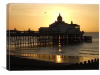 Glowing Pier, Canvas Print