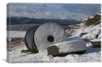 Winter Millstones Stanage Edge, Canvas Print