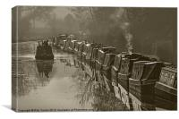 Narrow Boats, Canvas Print