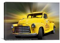Yellow Pick Up, Canvas Print