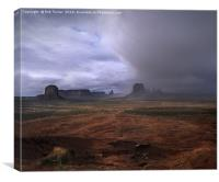 Monument Valley Rain, Canvas Print