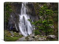 Aber Falls Snowdonia, Canvas Print