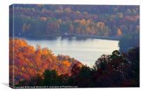 Autumn Lake, Canvas Print