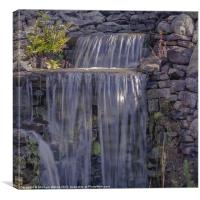 Rocky Waterfall, Canvas Print