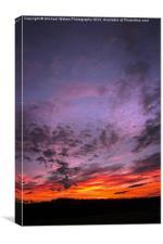 Sunset over Georgia, Canvas Print