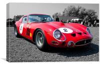 Ferrari GTO, Canvas Print