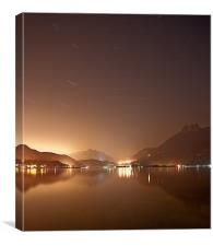 Lake Annecy at night, Canvas Print