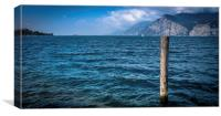 Holiday post from Lake Garda, Canvas Print