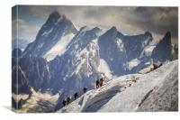 Climbers on the edge, Canvas Print