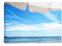 Looking at the horizon, Canvas Print
