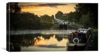 Caen Hill Locks, Canvas Print