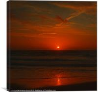 sunrise at the sands, Canvas Print