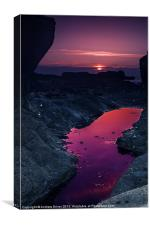 Rock pool sunset