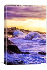 Winter at Porthleven, Canvas Print