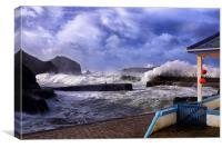 Mullion cove storm, Canvas Print